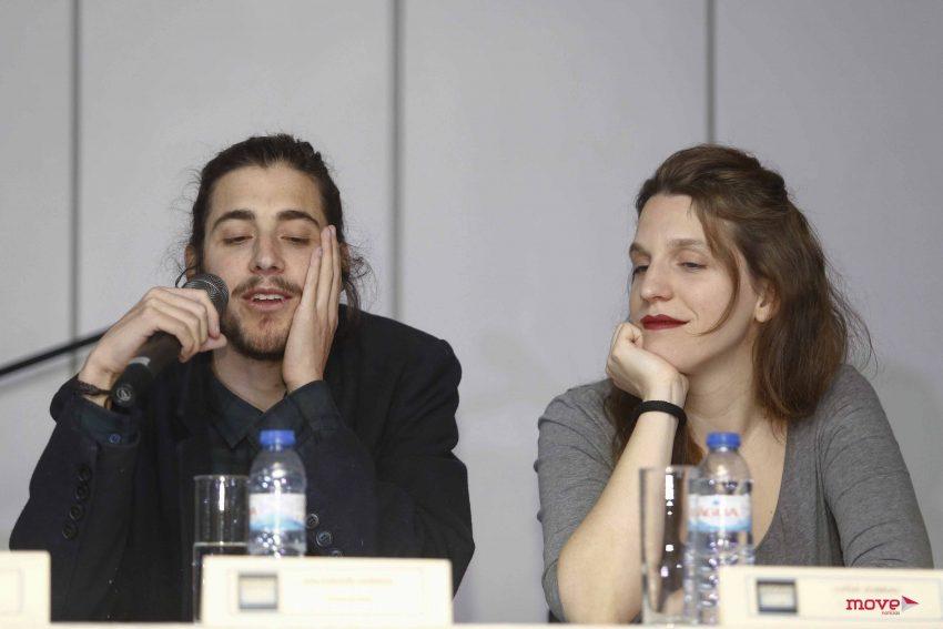 Salvador e Luísa Sobral durante a conferência de imprensa