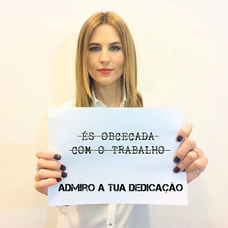 Ana Rita Clara campanha anti-bullying mulheres