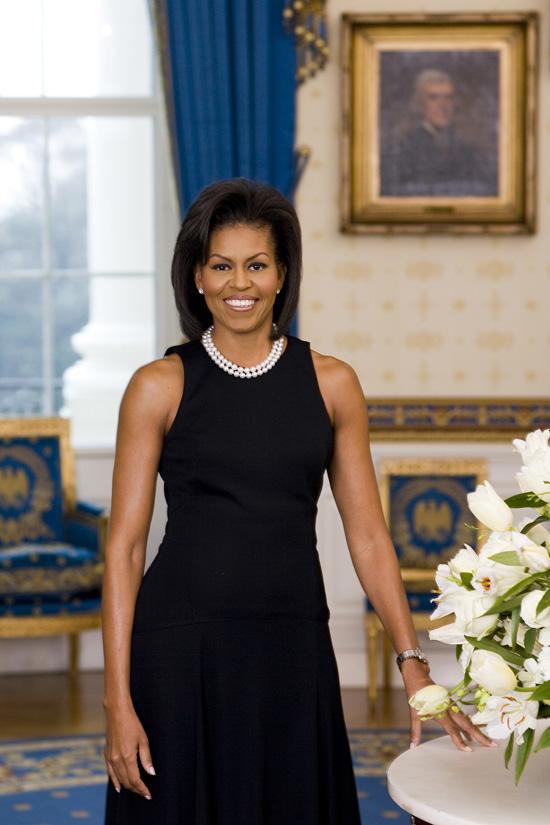 Michelle Obama primeiro retrato oficial como Primeira-Dama
