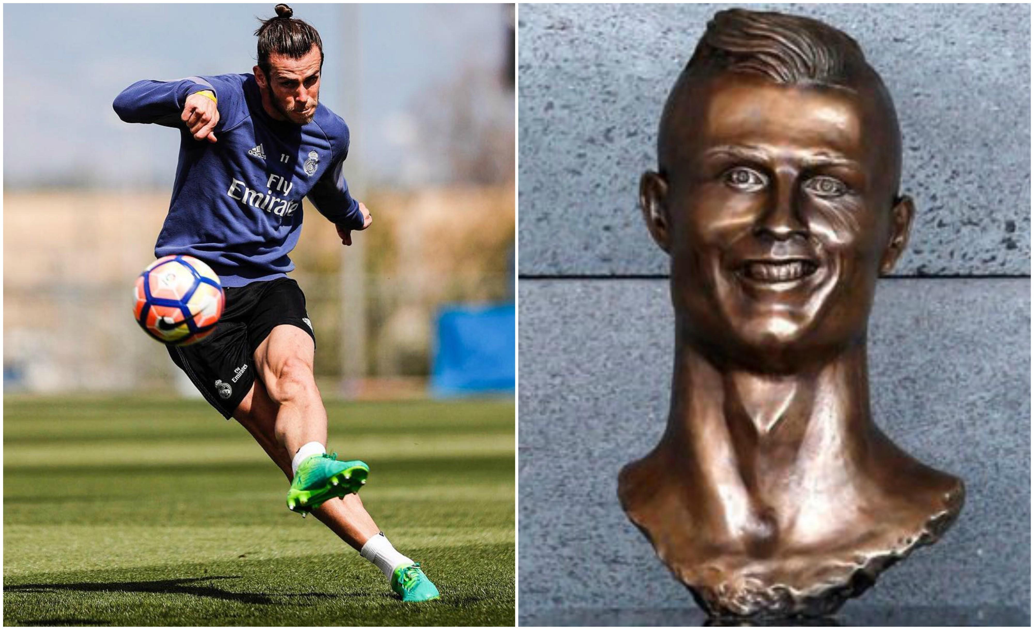 Depois de Ronaldo, madeirense faz busto para Gareth Bale