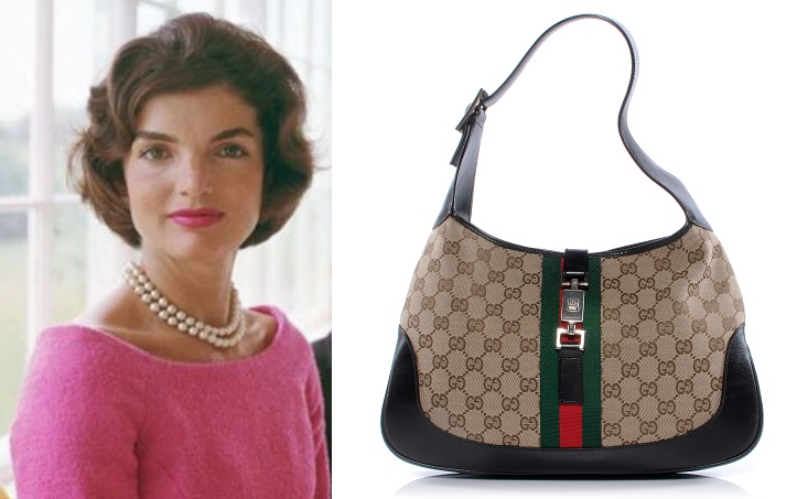 Existe uma mala com o nome Jackie, criada pela Gucci em 1950, que era um  dos acessórios ... 3dd9fe4e20