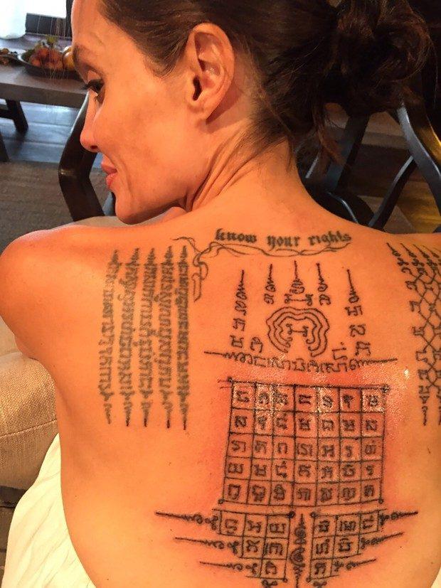 Estes São Os Segredos Das Novas Tatuagens De Angelina Jolie