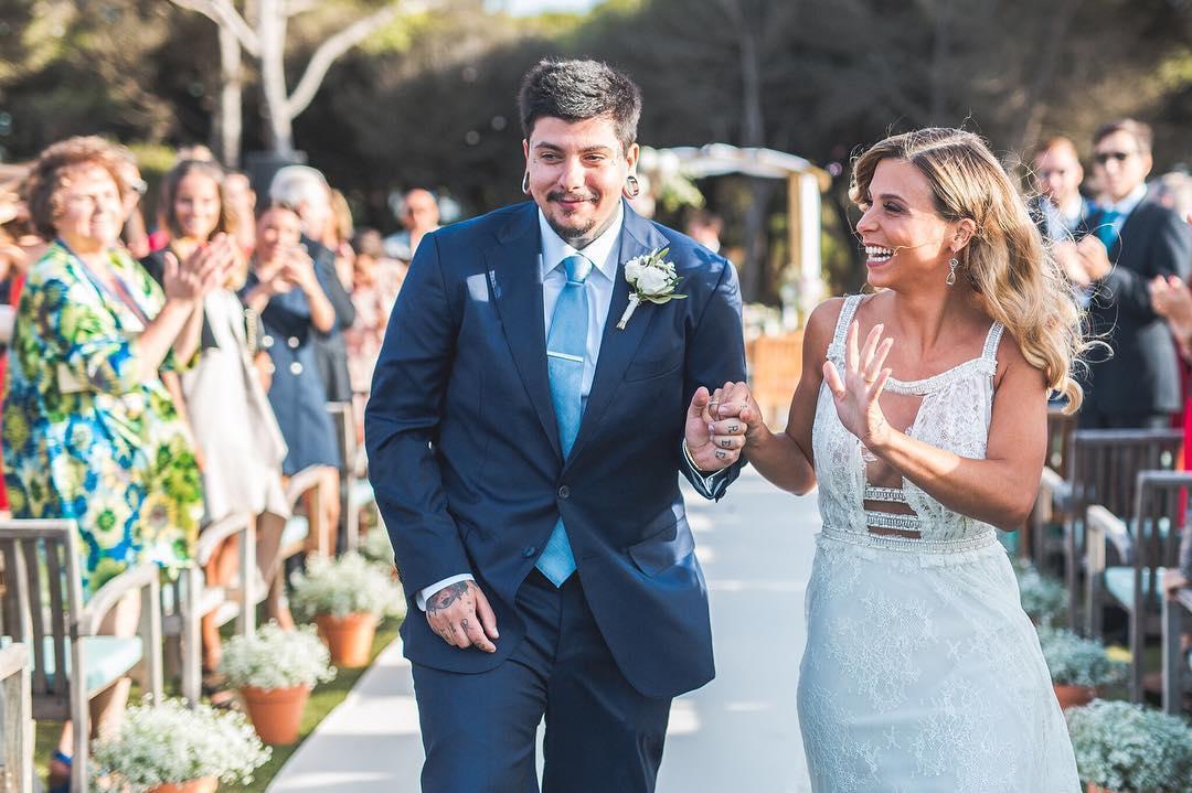 A fotografia oficial do casamento de Agir com Catarina Gama