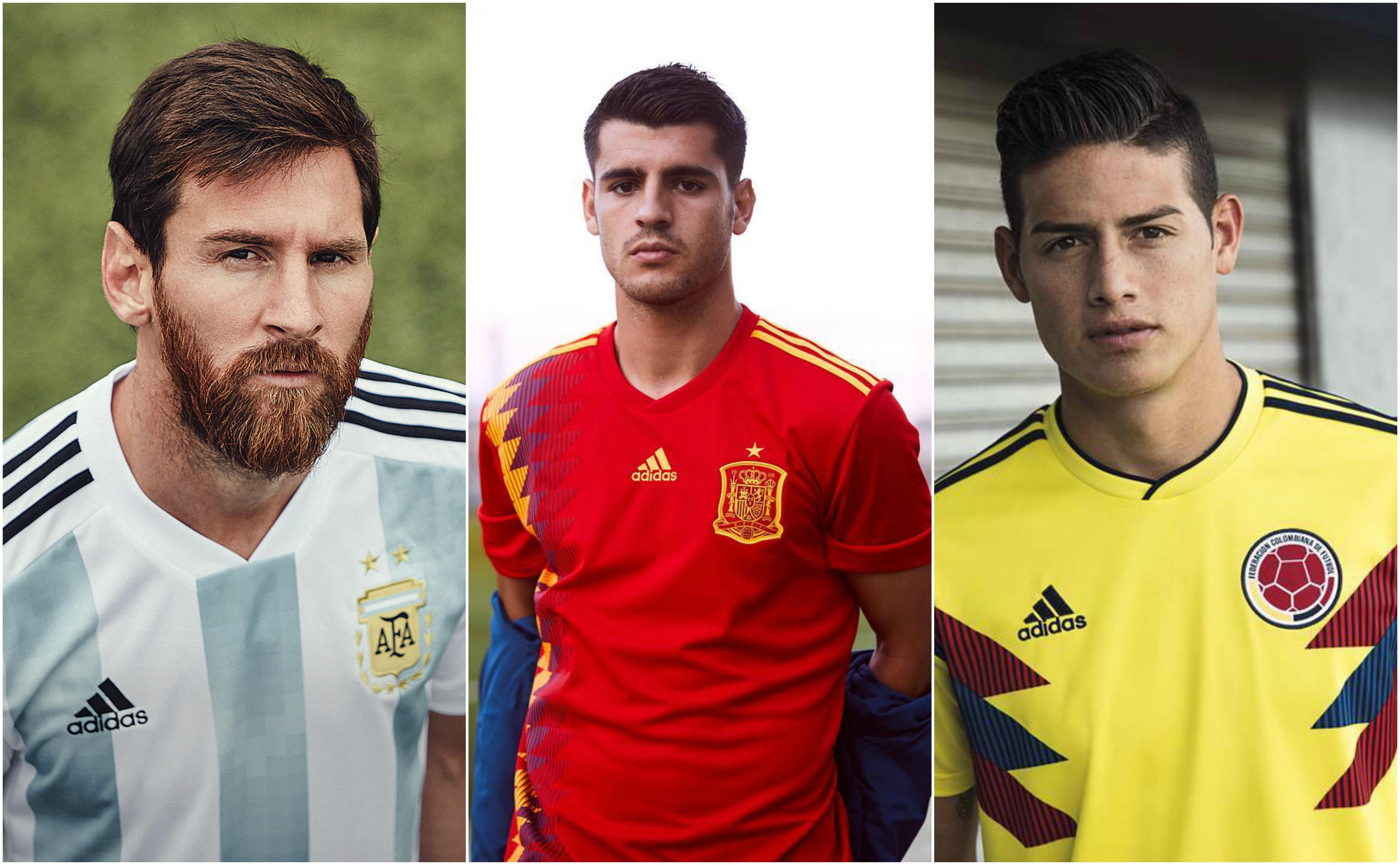 6baf5dd1b67194 Camisolas das seleções para Mundial 2018 abraçam o retro e a ...