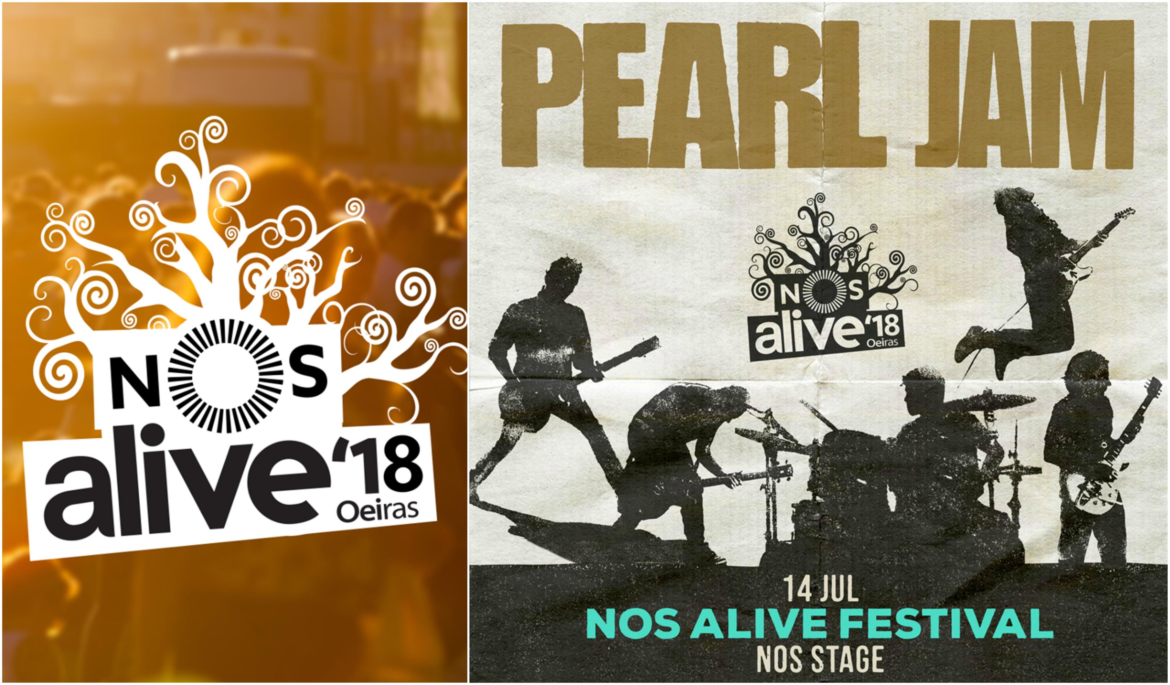 Pearl Jam confirmados no NOS Alive'18