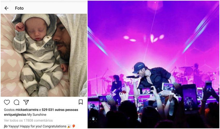 Enrique Iglesias e Anna Kournikova divulgam fotos dos filhos gêmeos
