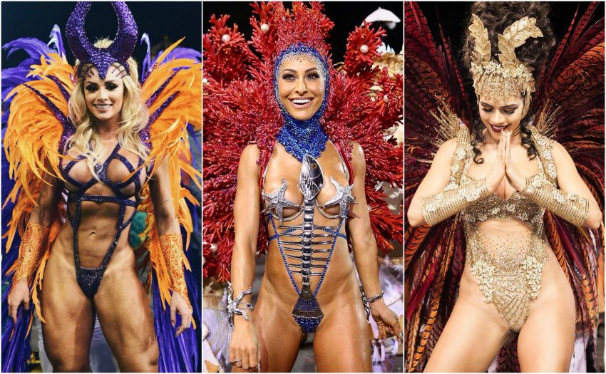 Musas do Carnaval brasileiro põem virilha musculada na