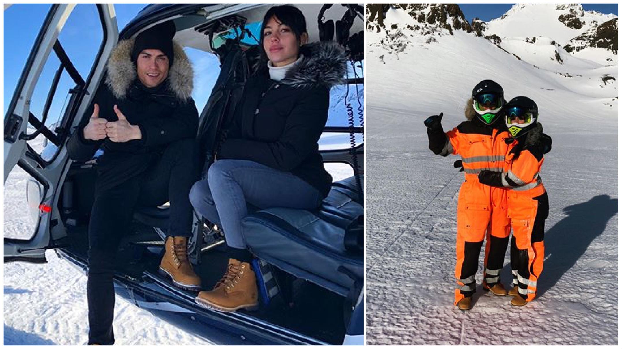 As férias na neve de Cristiano Ronaldo e Georgina Rodríguez