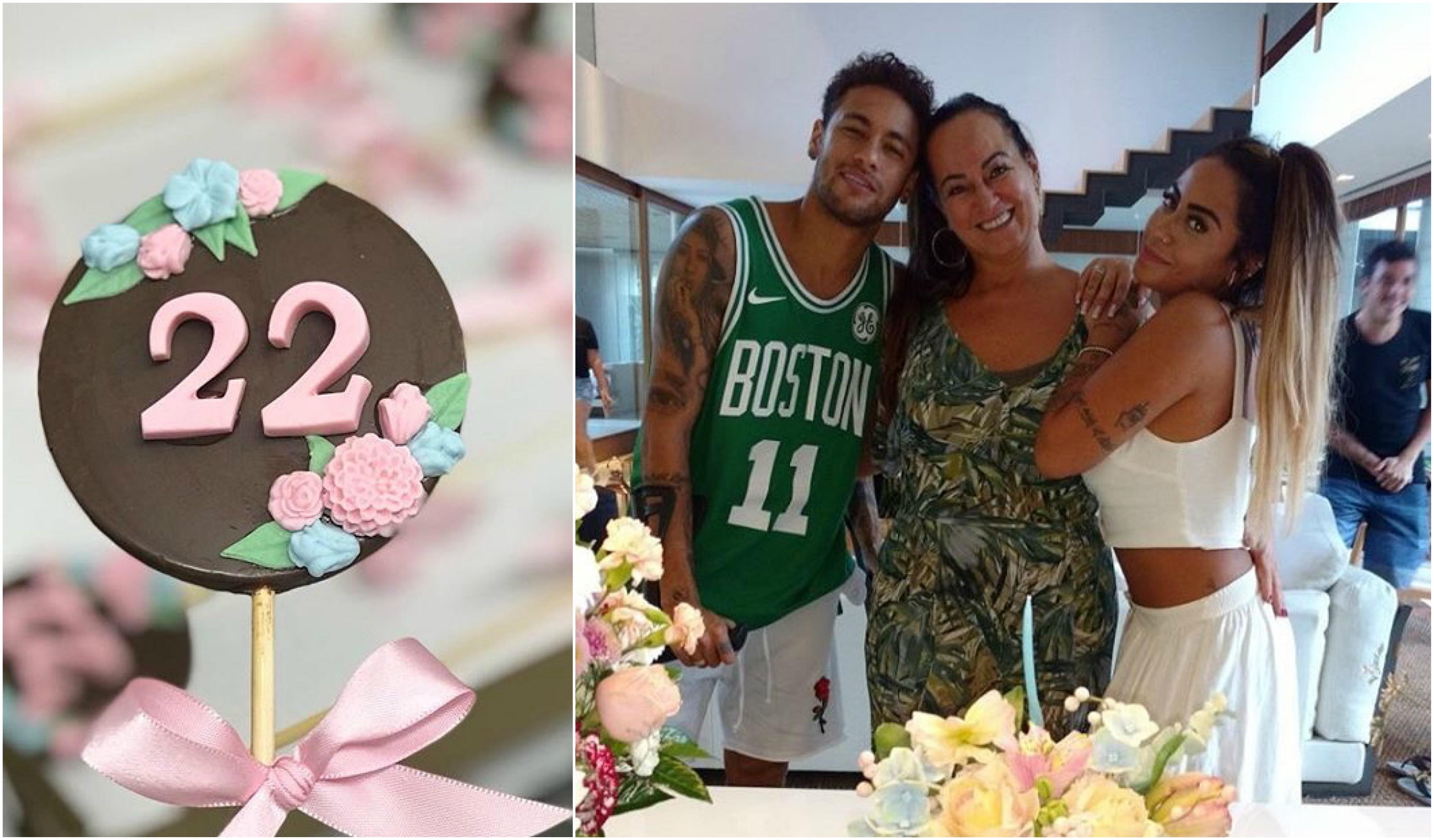 Marquezine e Neymar ficaram juntinhos da festa da irmã do jogador