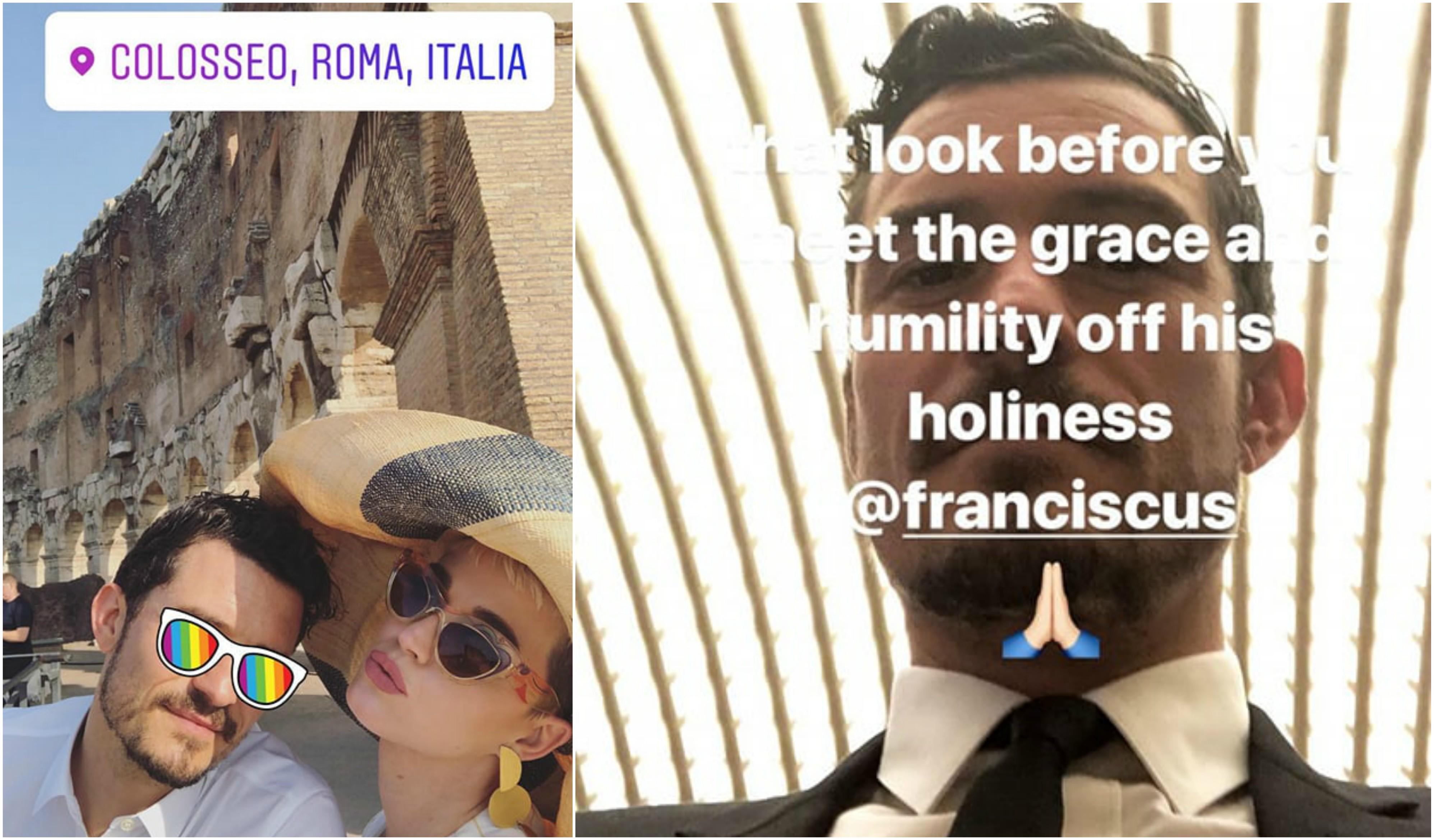 Papa Francisco, Katy Perry e Orlando Bloom se encontram no Vaticano