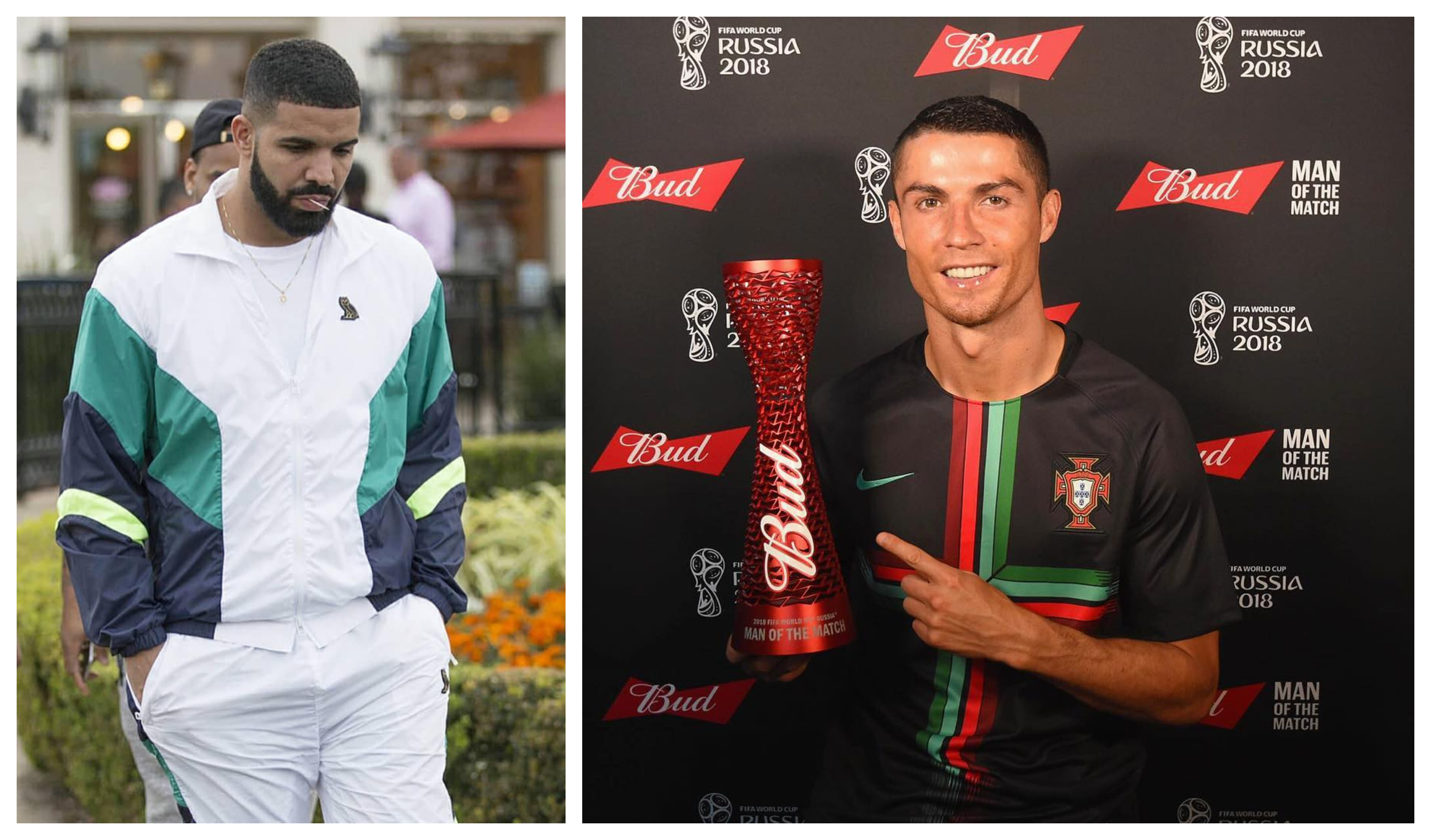 Drake says in a new song that lives with Cristiano Ronaldo