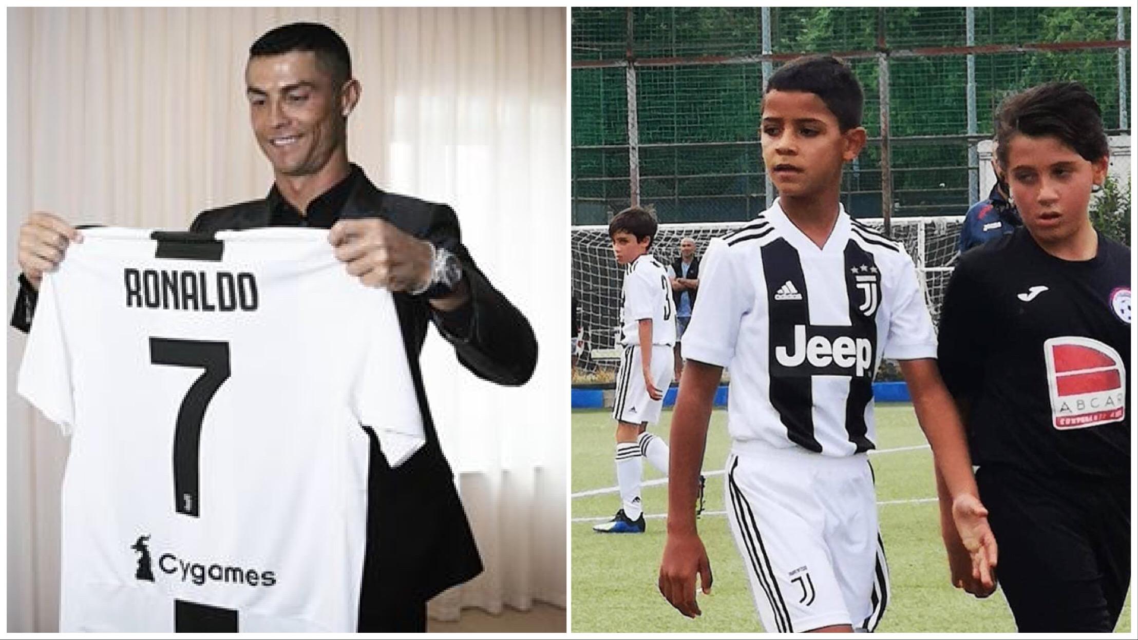 2c3671a3ac Foi com um  poker  que o filho mais velho de Cristiano Ronaldo se estreou  nos sub-9 da  Vecchia Signora