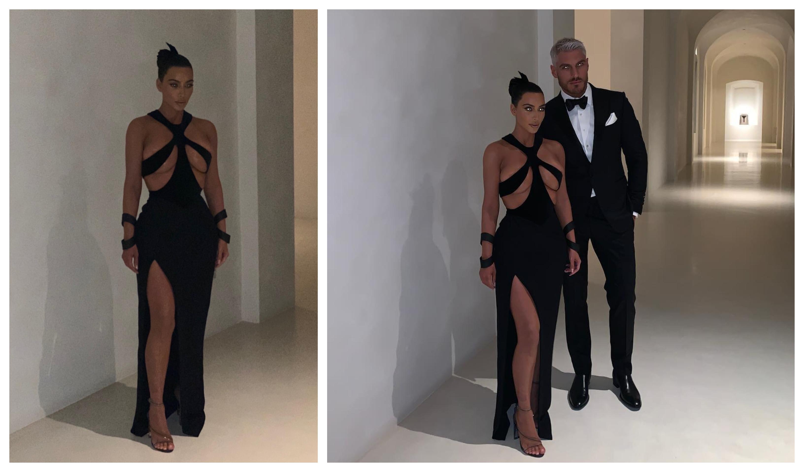 0b24da039 Kim Kardashian choca com um extravagante vestido vintage - MoveNotícias